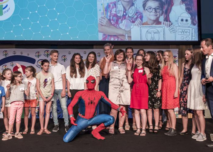 Spiderman, Elektro-Livemusik und ganz viel Kunst